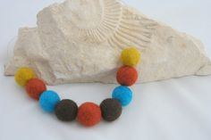Felted necklace, $13