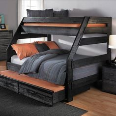 Youngsters Bedroom Furnishings – Bunk Beds for Kids Bunk Beds With Storage, Full Bunk Beds, Bunk Beds With Stairs, Kids Bunk Beds, Queen Bunk Beds, Dormitory Room, Bunk Bed Plans, Modern Bunk Beds, Modern Loft