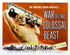War Of The Colossal Beast Movie poster Metal Sign Wall Art 8in x 12in