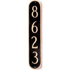 Montague Metal Products Oblong Column Address Plaque Finish: Antique Copper / Copper, Mounting: Wall