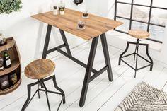Vysoký barový stolík dub/čierny kov. Drafting Desk, Table, Design, Furniture, Home Decor, Products, Bedrooms, Environment, Work Desk