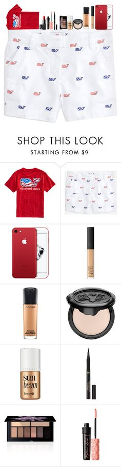 """""""July third party!"""" by sydneerees ❤ liked on Polyvore featuring Vineyard Vines, NARS Cosmetics, MAC Cosmetics, Kat Von D, Benefit, L'Oréal Paris and Smashbox"""