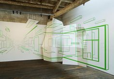 Installation- wall painting, Damien Gilley