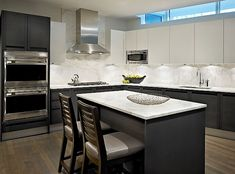 light upper cabinets dark lower cabinets | Collection Designers Installations