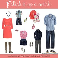 What to Wear in Family Photo-February 2013 - Click it Up a Notch
