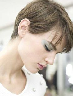 Lovely Pixie Cut with Medium Length Bangs
