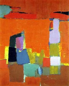 Nicolas de Staël (January 5, 1914, Saint Petersburg – March 16, 1955, Antibes) (French nationality, of Russian origin) was a painter known for his use of a thick impasto and his highly abstract landscape painting. He also worked with collage, illustration and textiles.
