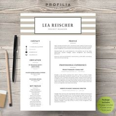 Word #Resume & Cover letter Template by Profilia #Resume…