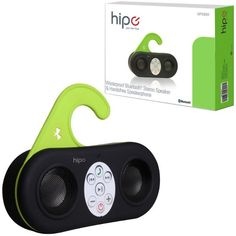 Hipe Waterproof Bluetooth Speaker. The Hipe Waterproof Bluetooth Speaker is supposed to be used in your bathroom, without worrying about getting your speaker wet. You can stream music from any Bluetooth device. It can also answer phones, and act like a microphone. The speaker will ring as soon as it receives an incoming call. The audio will fade out and once you're finished talking, the music will resume once again. It's Siri and Samsung S-Voice-compatible. Shower in Style!