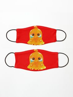 Orange crying slime clothes and masks for kids!