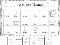Cut & Paste Adjectives Freebie