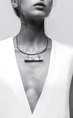LLY Atelier   A Contrario collection   Marble Bar Necklace