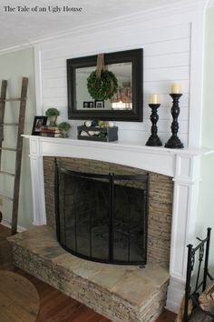 Ship Lap & A Fireplace | The Tale of an Ugly House