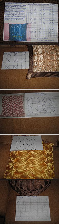 This Pin was discovered by Бел Smocking Tutorial, Smocking Patterns, Sewing Patterns, Sewing Pillows, Diy Pillows, Fabric Art, Fabric Design, Sewing Hacks, Sewing Projects
