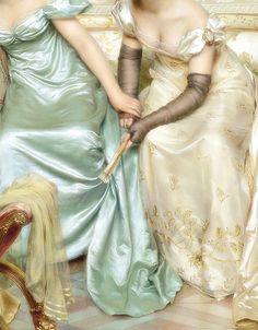 '' Secrets '' 19th c.(detail) by Charles Joseph Fréderic Soulacroix (1825-1899).