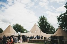 Tipis at wedding are ace. So glad Chris and Ellie made their wedding their own!