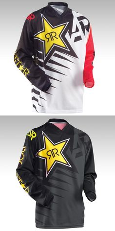 [Visit to Buy] Moto New product 2015 ANSWER RockStar moto Jersey MX MTB Off Road Mountain Bike DH Bicycle Cycling Jersey DH BMX motocross jerse #Advertisement
