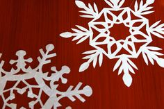 How to Make Hand Cut Snowflakes - http://www.make-it-do.com