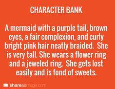 Writing pin: Character description