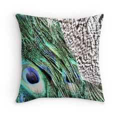 Peacock pillow feathers cushion peacock blue throw pillow green graphic animal…