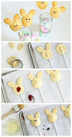 cake pops rezepte, hasen aus teig und marmalade cake pops recipes, buns from dough and marmalade Easter Cookies, Easter Treats, Easter Candy, Holiday Desserts, Holiday Treats, Easter Ham, Hoppy Easter, Salty Cake, Easter Holidays