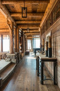 Cedar View Lodge rustic hall