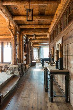 Cedar View Lodge rustic hall
