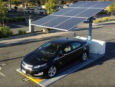 A solar ev charging station in San Francisco