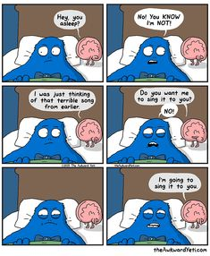 Heart and Brain comics and animations by The Awkward Yeti Akward Yeti, The Awkward Yeti, Funny Cute, The Funny, Hilarious, Cute Comics, Funny Comics, Funny Cartoons, Heart And Brain Comic