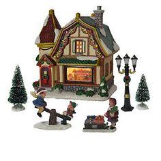 St. Nicholas Square® Village 6-piece Toy Shop Value Set