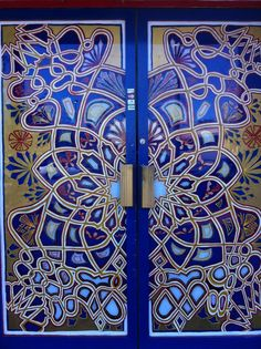 Stained Glass door, Morocco - I'd like to see what kind of light is cast by this!