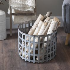 Open weave baskets are great but they can wear out so fast. That's why the Kirkland's metal version is a must-have!