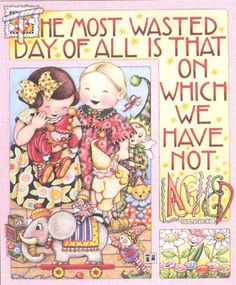 Most Wasted Day not Laughing Handcrafted Fridge Magnet Art by Mary Engelbreit | eBay