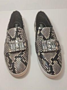 3c9fd9d3302fd Michael By Michael Kors Womens Faux Python Print Loafers Tennis Shoes Size 9