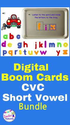 "Use this digital BOOM CARD Phonics Bundle (with SOUND) to make Distance Learning easy. Practice CVC word building with ""magnetic"" letter trays!Short Vowels Includes shape boxes to give young learners a visual clue about the letters needed. No prep & self-checking. #BoomCards #BoomCards1stGrade #TeacherFeatures #1stGrade #DistanceLearningTpT #phonics1stgrade #homeschoolactivities #homeschoolkindergarten ##makingwords #wordbuildingactivities #DistanceLearning #makingwordsfirst grade #TpT"