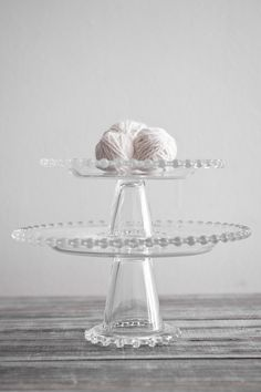 vintage candlewick cake stands