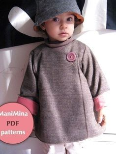 Mademoiselle coat Instant download PDF pattern 12m von ManiMina