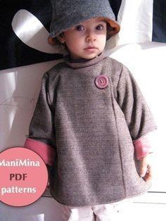 Mademoiselle coat Instant download PDF pattern 12m von ManiMina