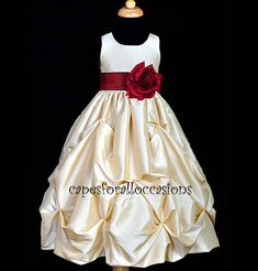 Flower girl dress. Adorable, and keeps with the theme