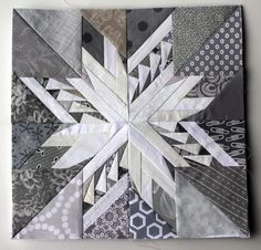 Snowflake Star by Wombat Quilts. Carol Doak paper pieced patterns.