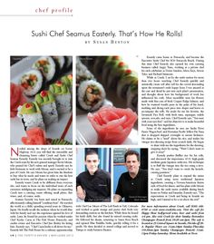 Susan Benton-30A EATS article on Sushi Chef Seamus Easterly at CRUSH in Seaside, FL!
