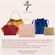 Lanzamiento nueva coleccion ANA LAVERDE handbags