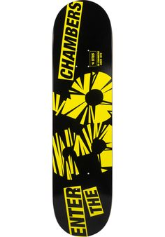 TITUS 36-Chambers, Deck, black-yellow Titus Titus Skateshop #Deck #Skateboard #titus #titusskateshop