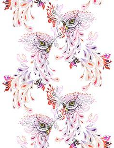 'Extinct Owls' by Ola Liola- would be pretty as a side torso or leg piece