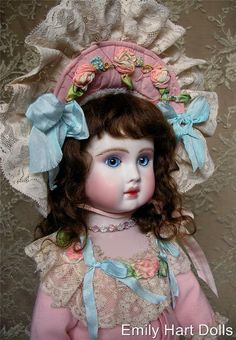 Steiner A19 Antique Reproduction Porcelain doll by emilyhartdolls