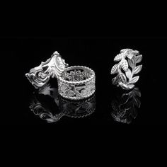 Unique Sculptural Rings - SPIKY LEAVES #rings #sculptural #unique #gifts