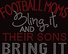 LOVE THIS!   Football Mom Iron On - Bing Images