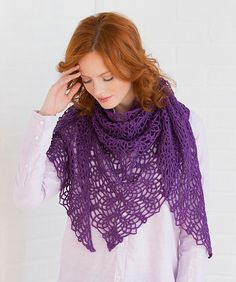Lightweight and lacy, this beautiful pineapple pattern is perfect any time of the day. Wear it as a shawl or wrap it around your neck for scarf-like warmth.