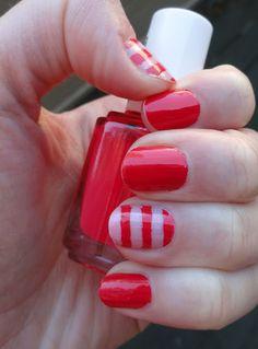 An easy fun striped manicure
