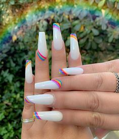 In seek out some nail styles and ideas for your nails? Here is our list of must-try coffin acrylic nails for cool women. Rave Nails, Aycrlic Nails, Manicure, Coffin Nails, Teen Nails, Cow Nails, Stiletto Nails, Summer Acrylic Nails, Best Acrylic Nails